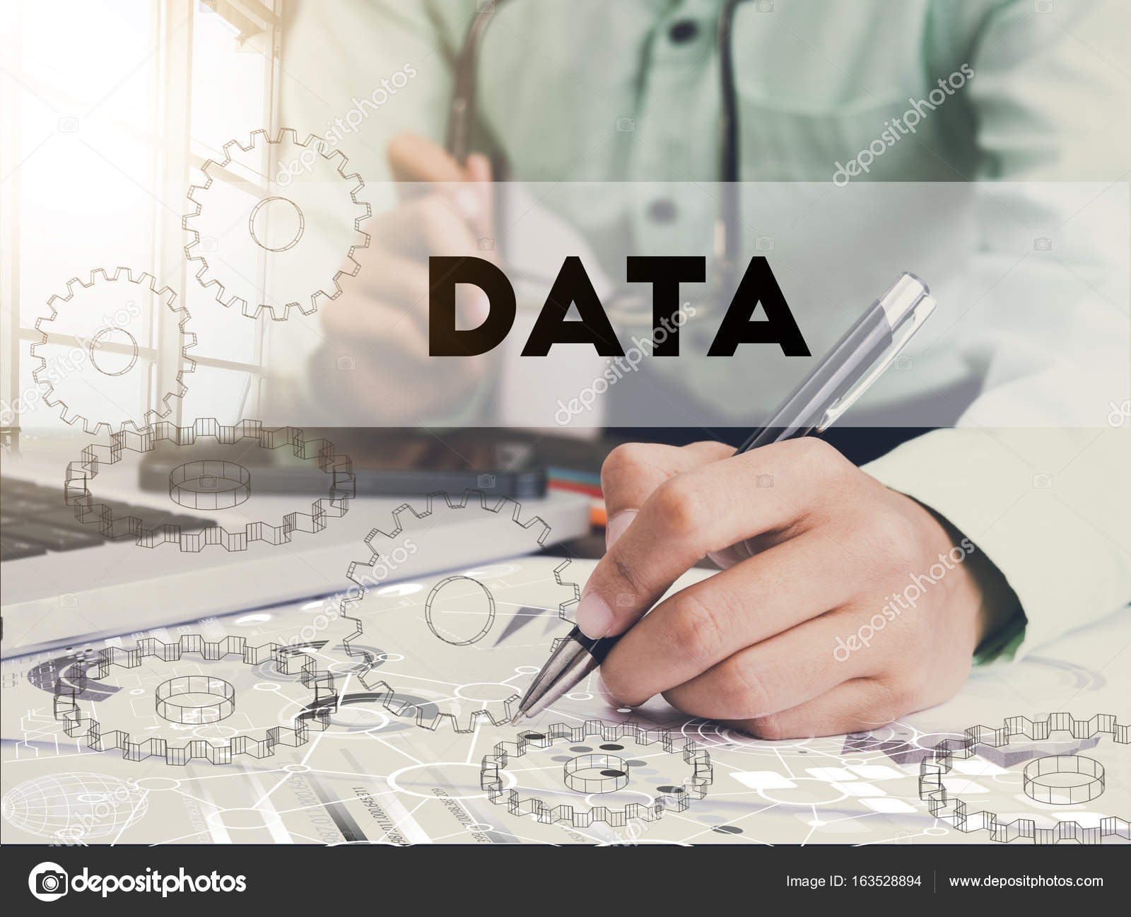 Businessman writing financial data analysis graph report on desk businessman writing financial data analysis graph report on desk office concept finance and banking website web page photo by baramee2017 ccuart Gallery