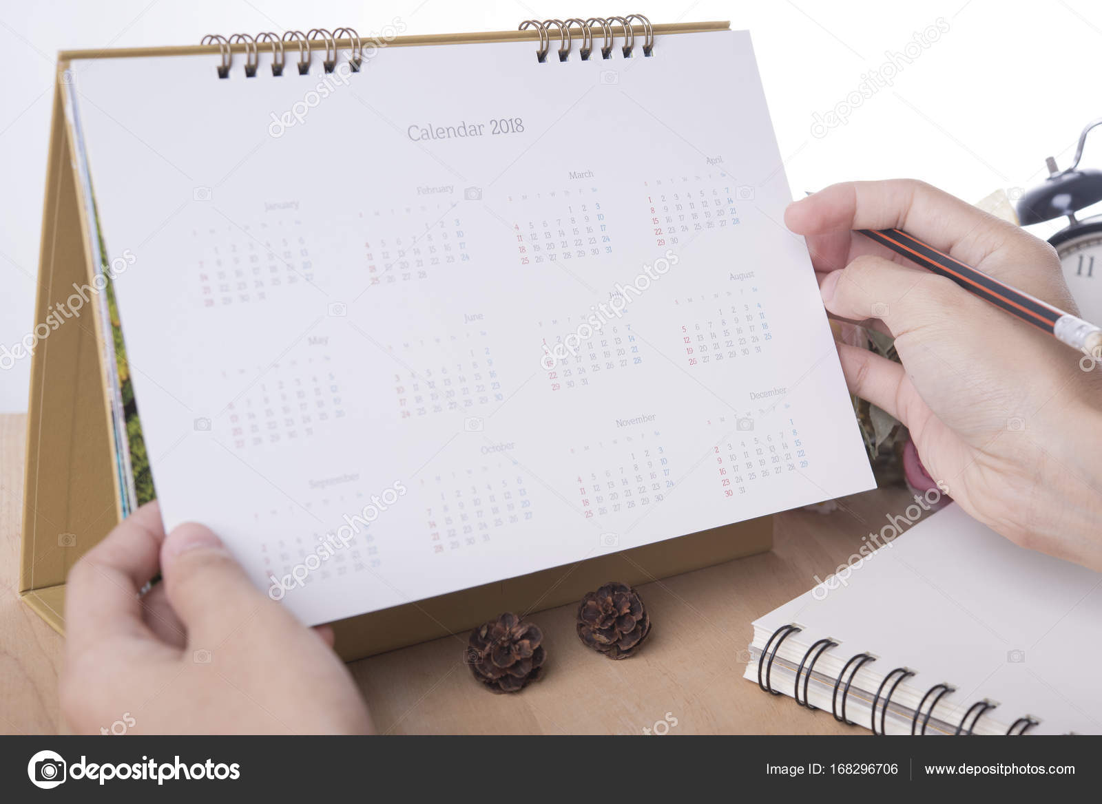 office planner. Business Hand List Calendar 2018 Planner Meeting On Desk Office. Organization Management Remind Concept. \u2014 Photo By Baramee2017 Office