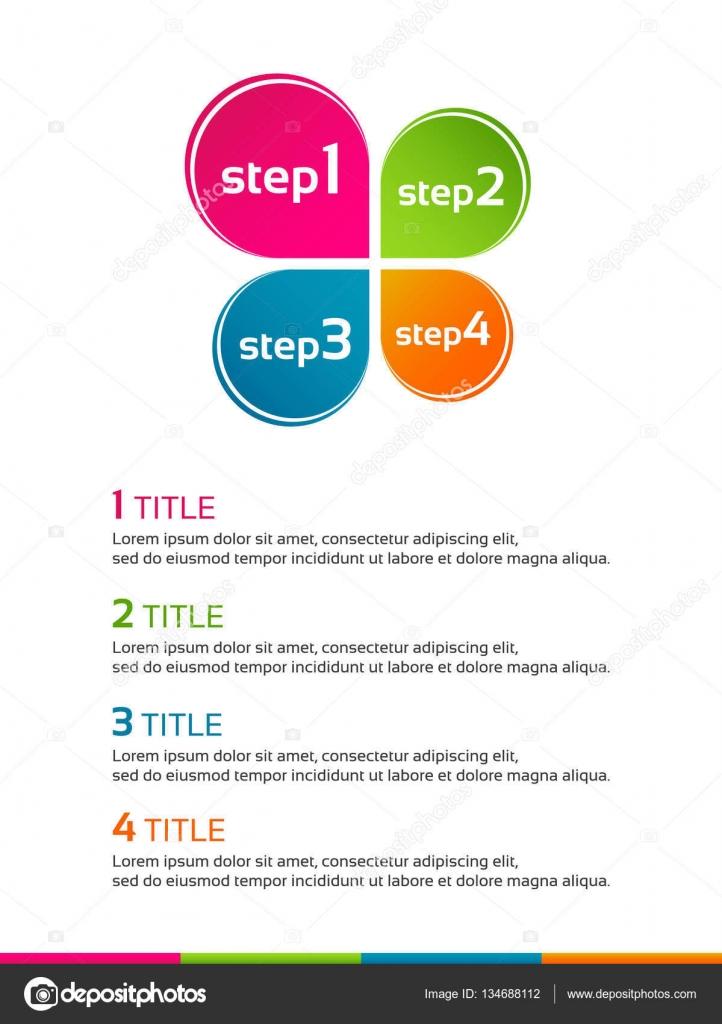 Plantilla minimalista infografía con trébol de hojas color — Archivo ...
