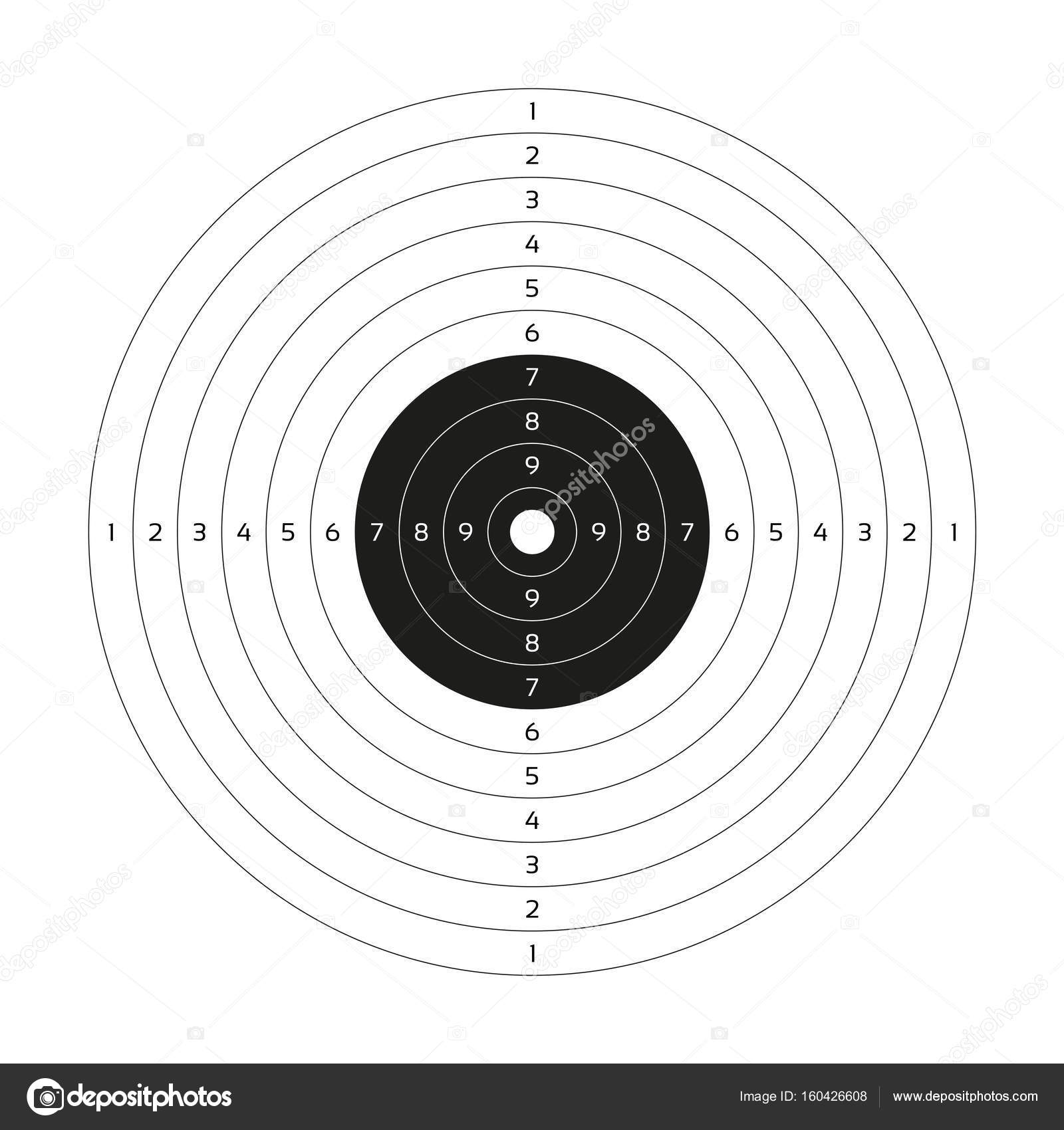 photograph regarding Printable Gun Stock Templates named Blank vector gun concentration, paper taking pictures concentrate, blank