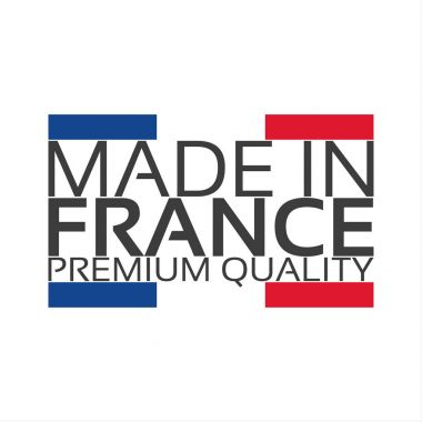 Made in France, premium quality sticker with French color, French ribbon