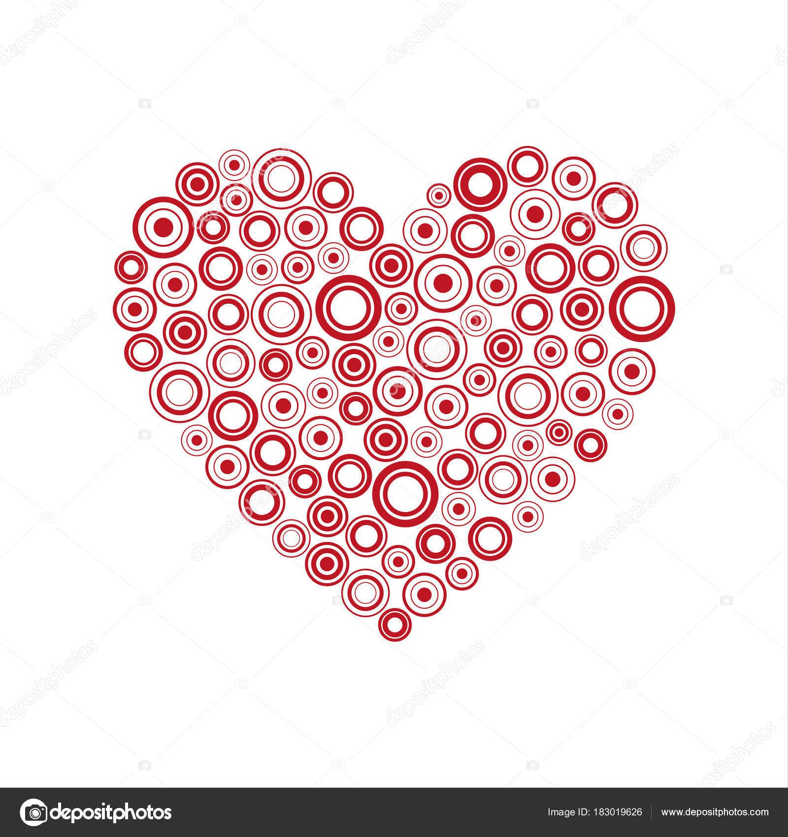 41c8c53999b46 Red heart of the rings, Happy Valentines day card with abstract ...
