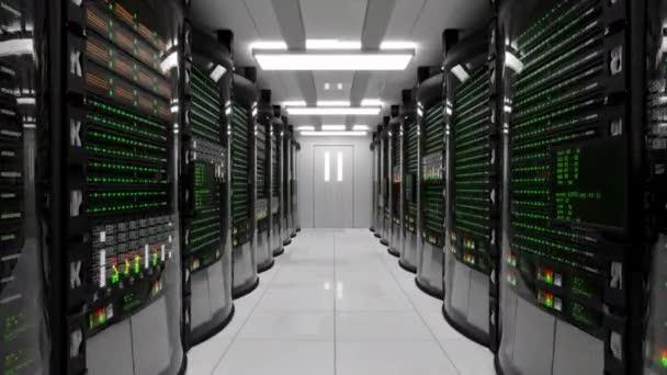 moderner Arbeitsraum mit Rack-Servern