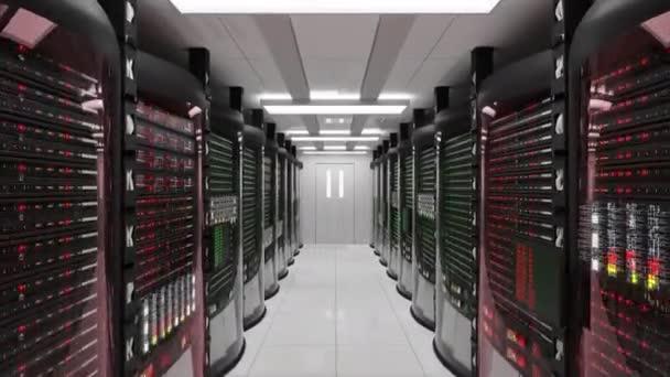 Serverraum und Rack-Server mit Serverfehler