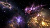 Fényképek Nebulas galaxisban ki repül a világűrben