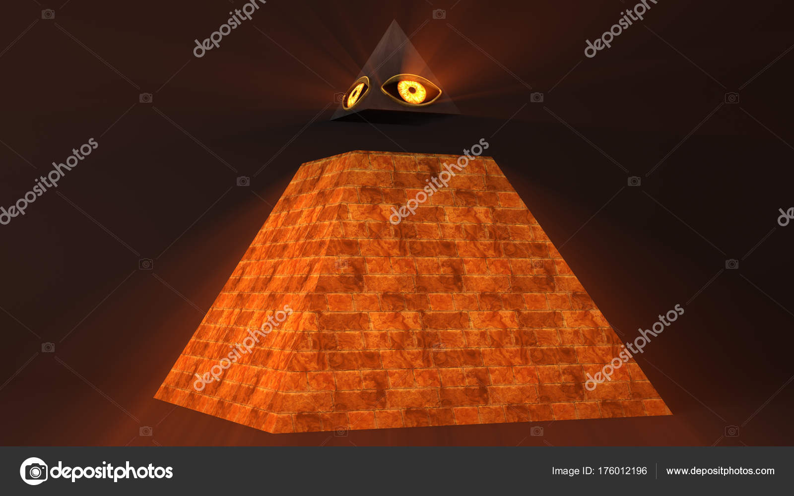 All Seeing Eye Of God The Providence Pyramid Illuminati Symbol 3D Illustration Photo By Boscorelli