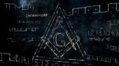 Fotografie The Free Masonic Grand Lodge Sign and Illuminati Secret Characte
