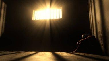 Prisoner in Bad Condition in Demolished Solitary Confinement und