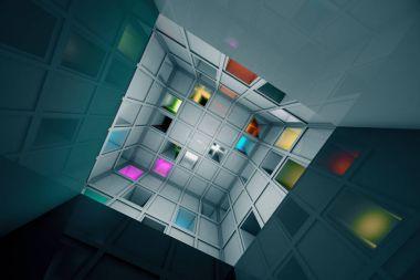 Sci Fi Escape Room Riddle Labyrinth Cube Interior