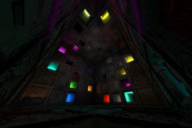 Sci Fi Grungy Escape Room Riddle Labyrinth Cube Interior