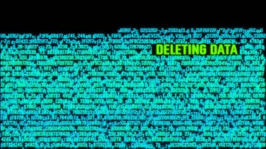 Deleting Data Computer System Hacked Terminal Concept