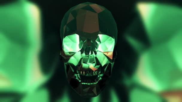4K Halloween Kristallschädel Looping Animation Mehrfarbig