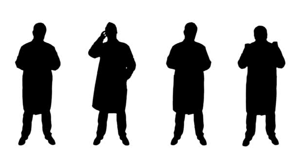 4K 4 Doctors Scientist Silhouettes