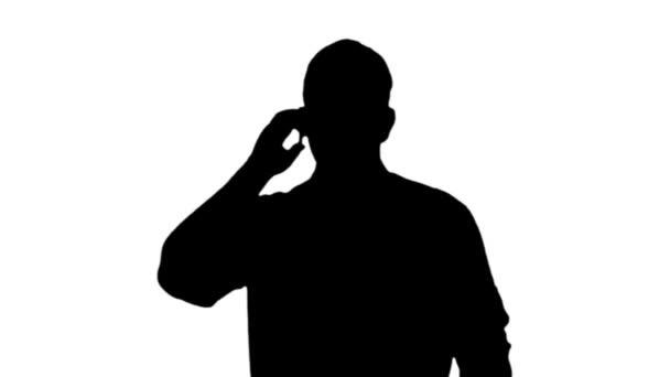 Üzletember a telefonban Sziluett 3