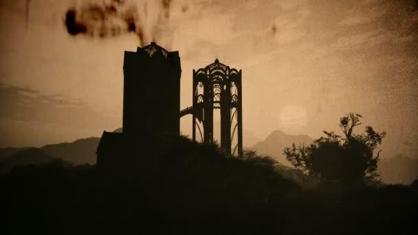 Elfen Fantasy Schloss im Wunderland 3D Animation Vintage