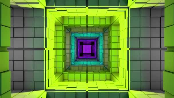4K Sci-Fi Minimalist Cube Color Changing Maze 3D Animation