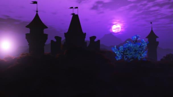 Fantasy Land mit 2 Sonnen Magische Szene 3D Animation