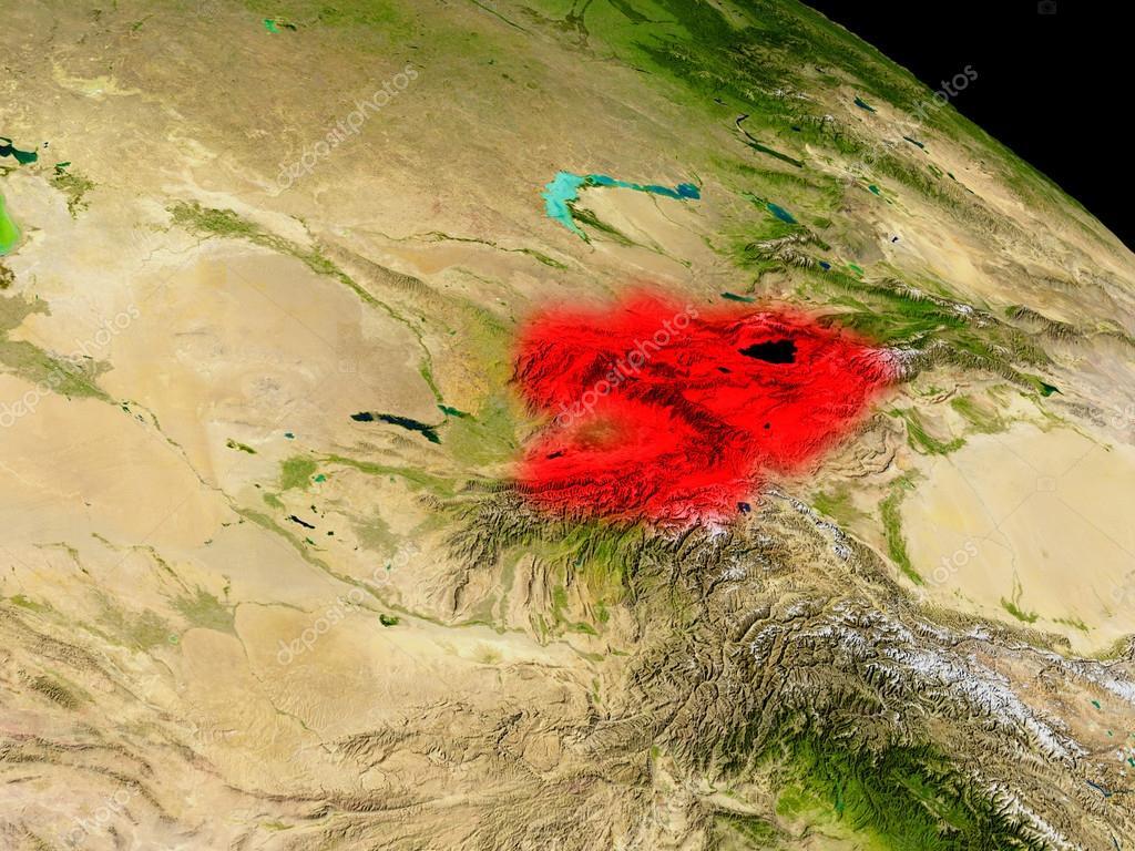 фото киргизии из космоса последовавшие девяностые двухтысячные