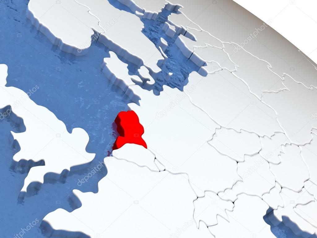 Netherlands on globe Stock Photo tomgriger 126834184