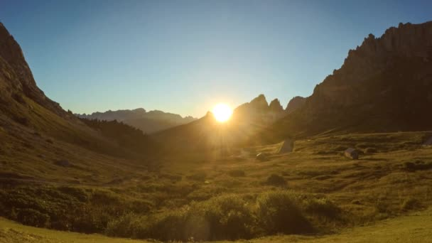 Západ slunce timelapse Alpy