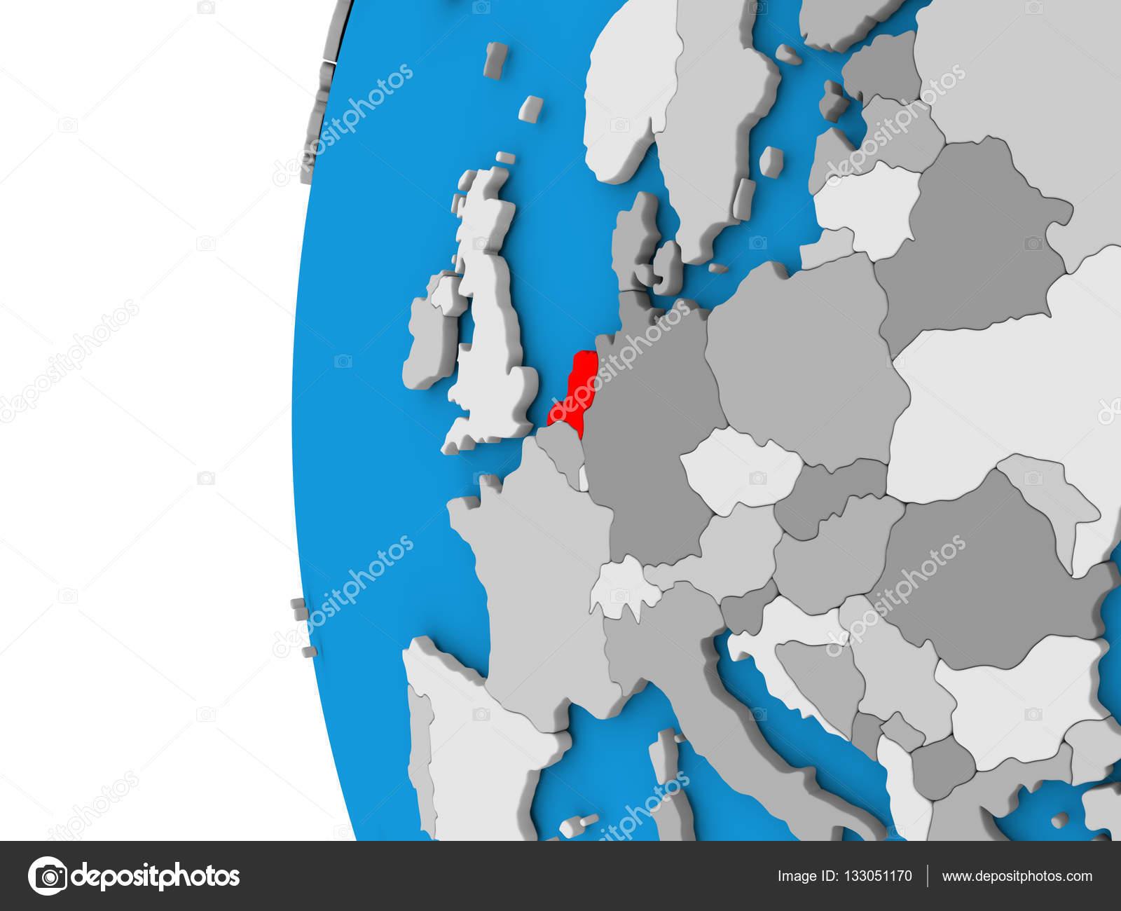 Niederlande Karte Welt.Niederlande Auf Globus Stockfoto C Tom Griger 133051170