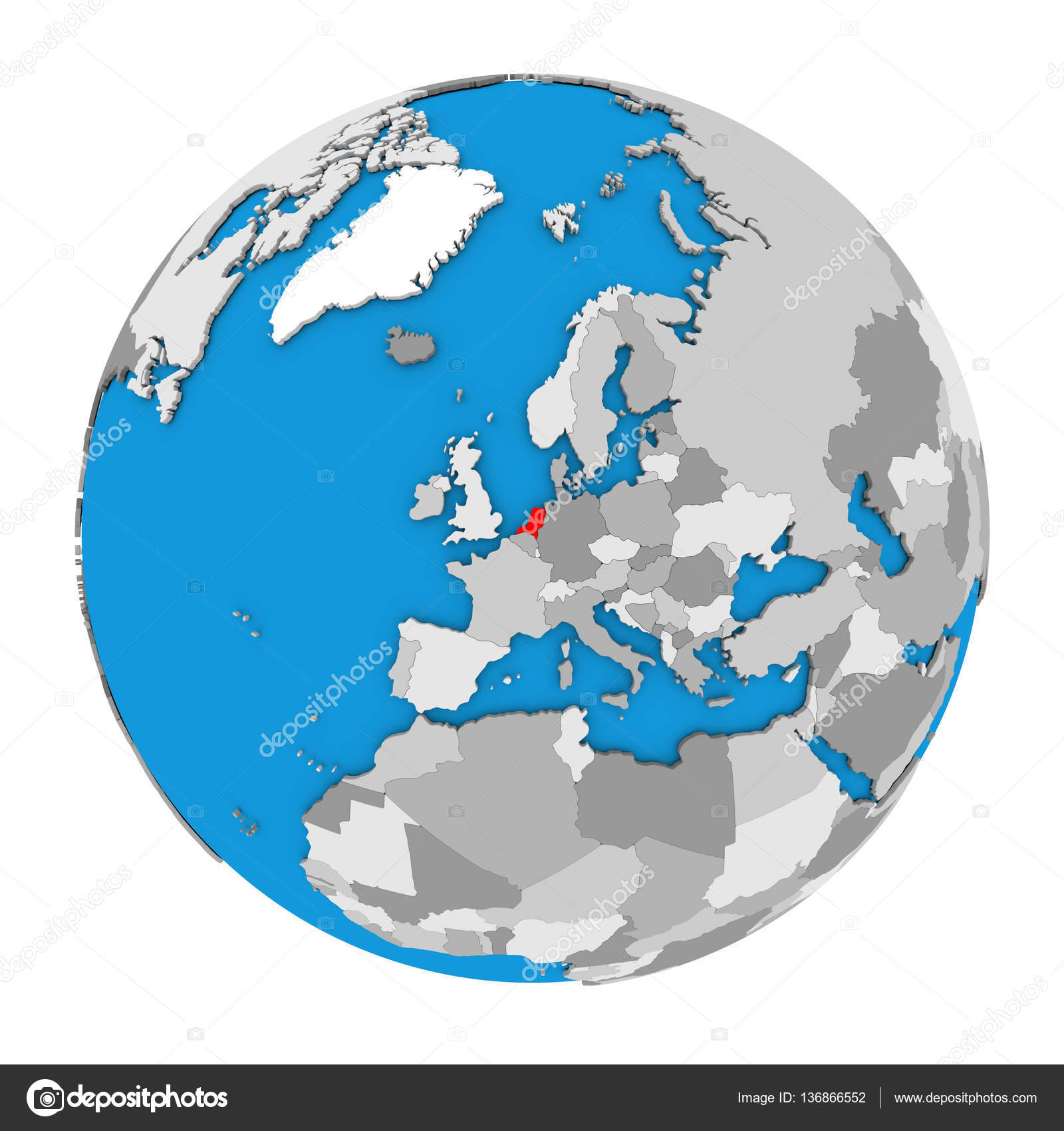 Netherlands on globe — Stock Photo © tom.griger #136866552