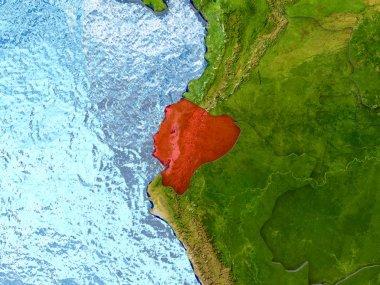 Ecuador in red