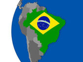 Brasilien über den Globus