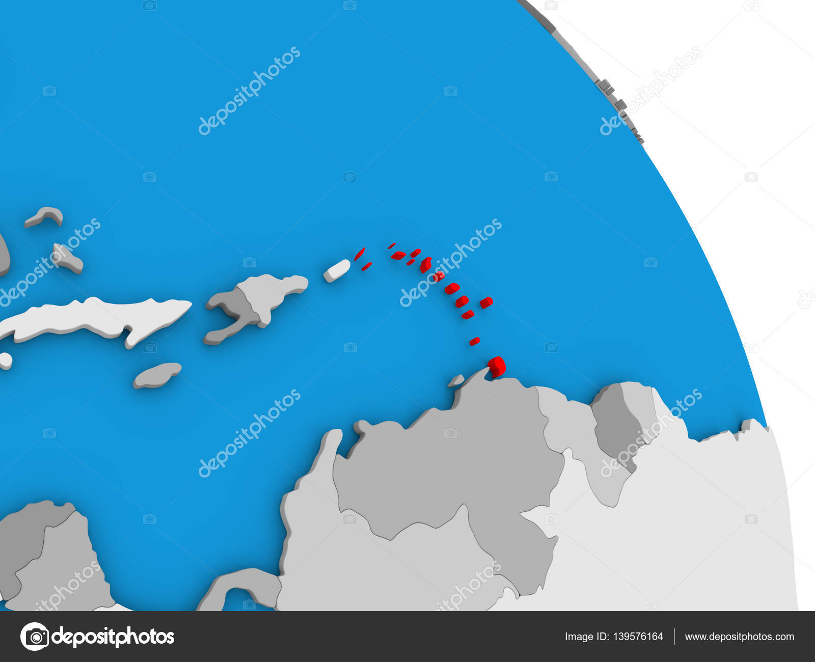 Caribbean on globe stock photo tomiger 139576164 caribbean highlighted in red on simple globe with visible country borders 3d illustration photo by tomiger gumiabroncs Image collections