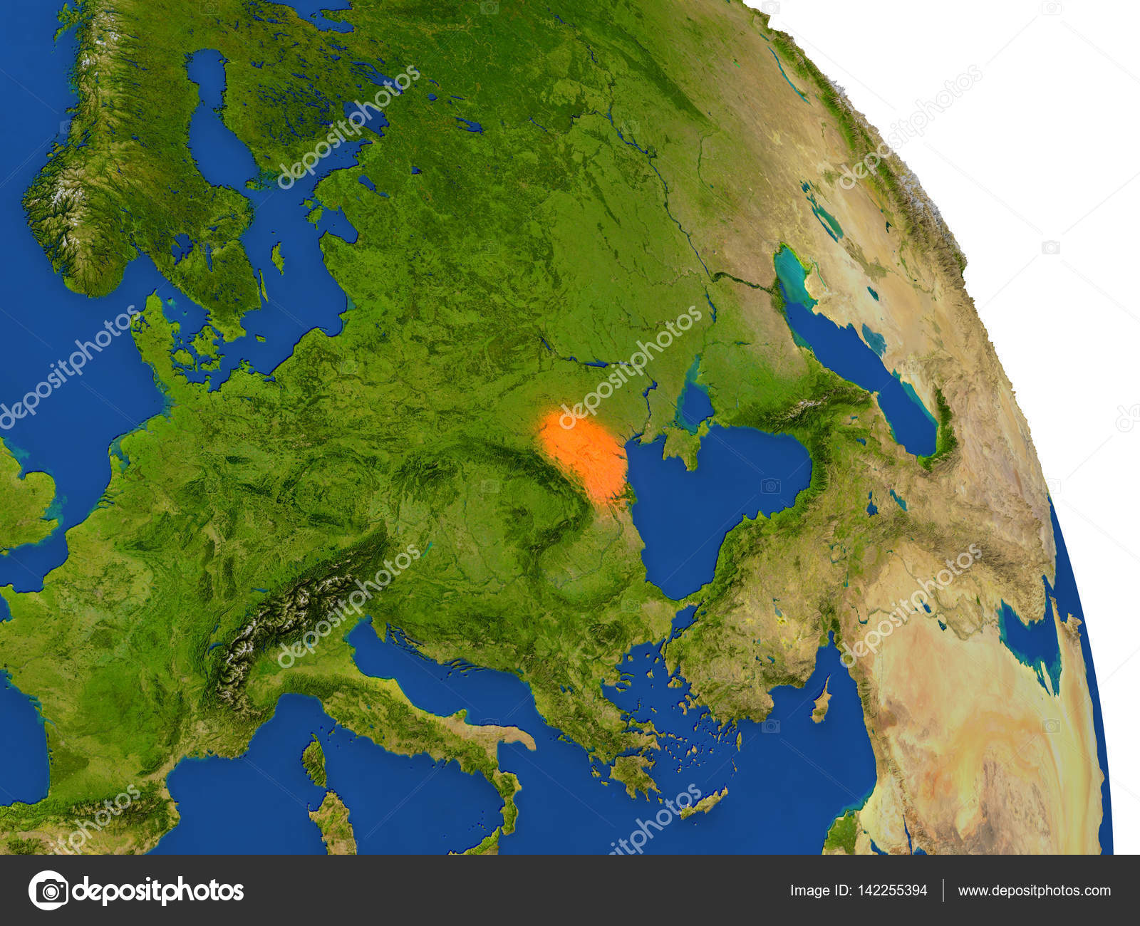Map of Moldova in red — Stock Photo © tom griger #142255394