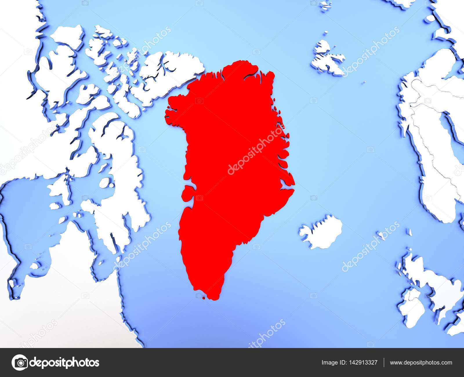 Greenland in red on map stock photo tomiger 142913327 map of greenland highlighted in red on simple shiny metallic map with clear country borders 3d illustration photo by tomiger gumiabroncs Images