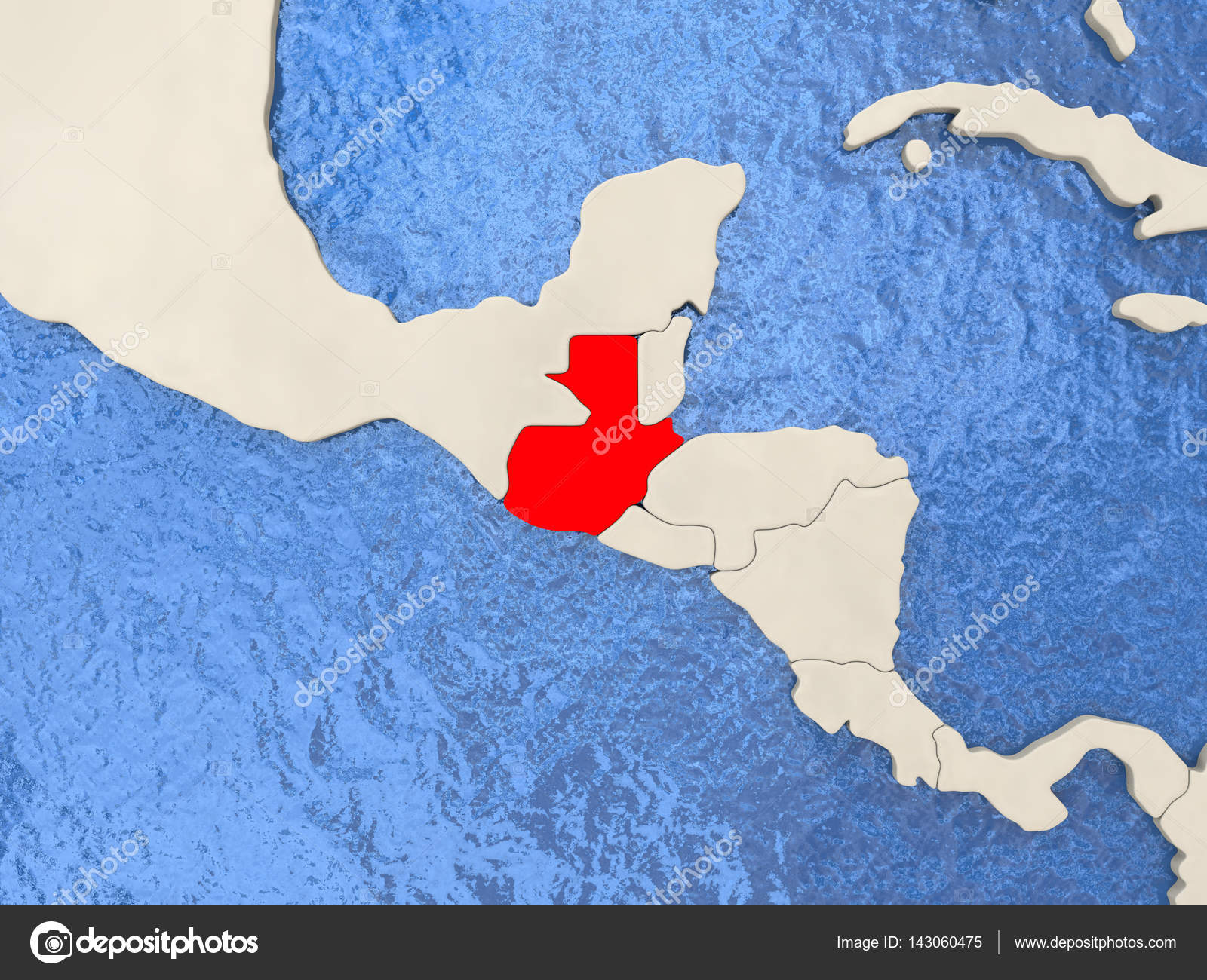 Guatemala On Map Stock Photo C Tom Griger 143060475