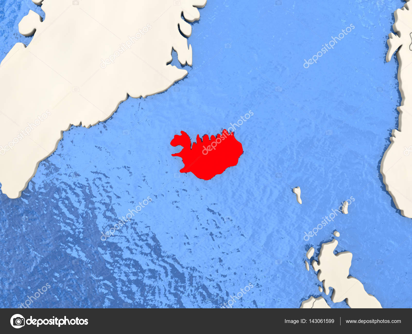 Iceland on map — Stock Photo © tom.griger #143061599
