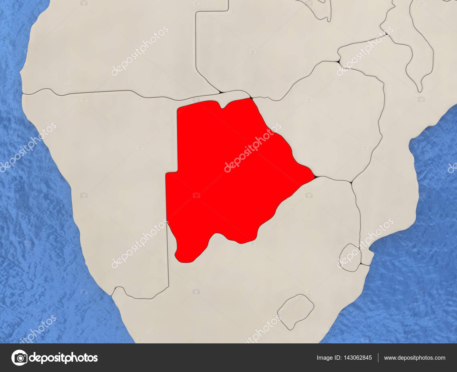 Botswana on map Stock Photo tomgriger 143062845