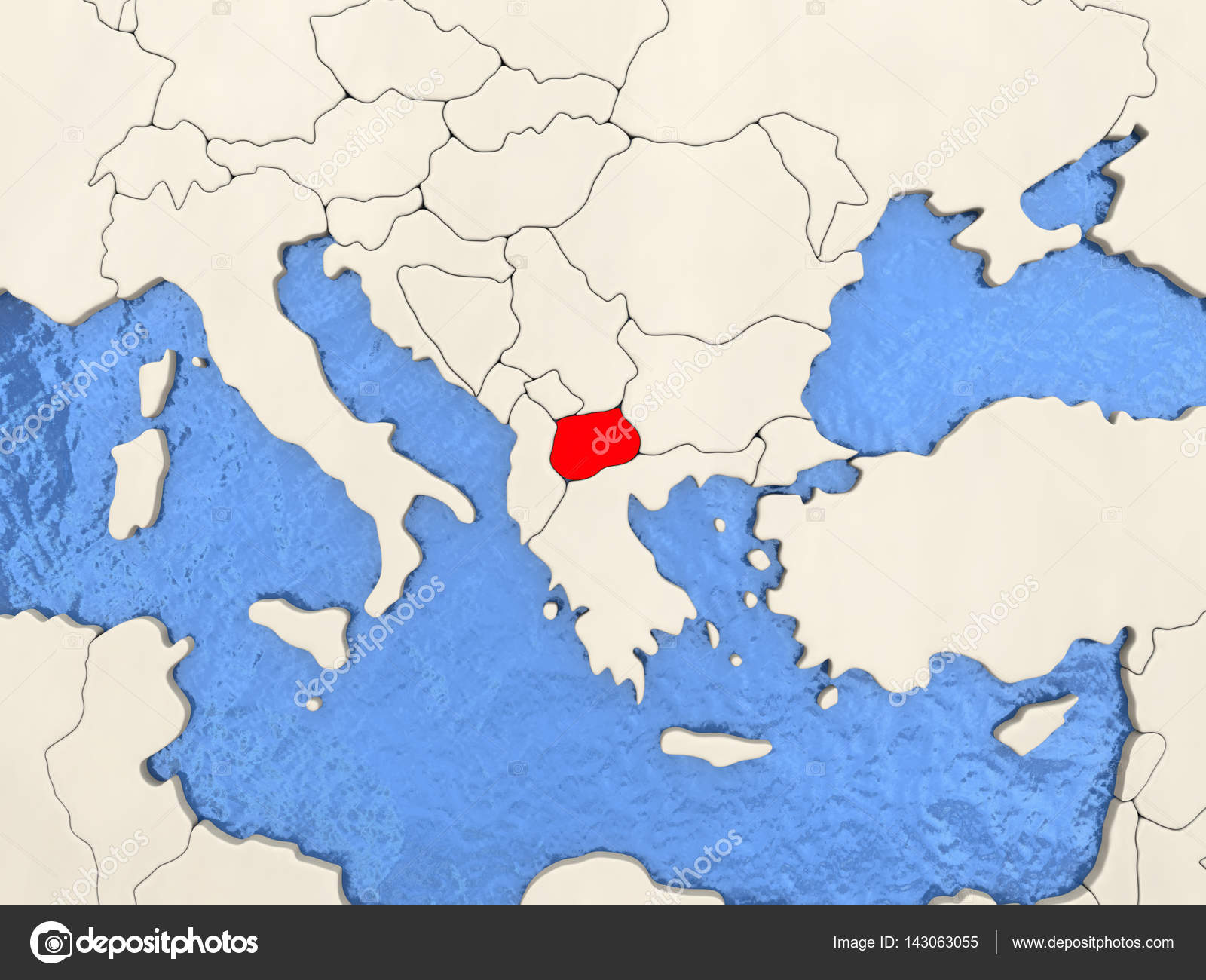 Mazedonien Karte.Mazedonien Auf Karte Stockfoto Tom Griger 143063055