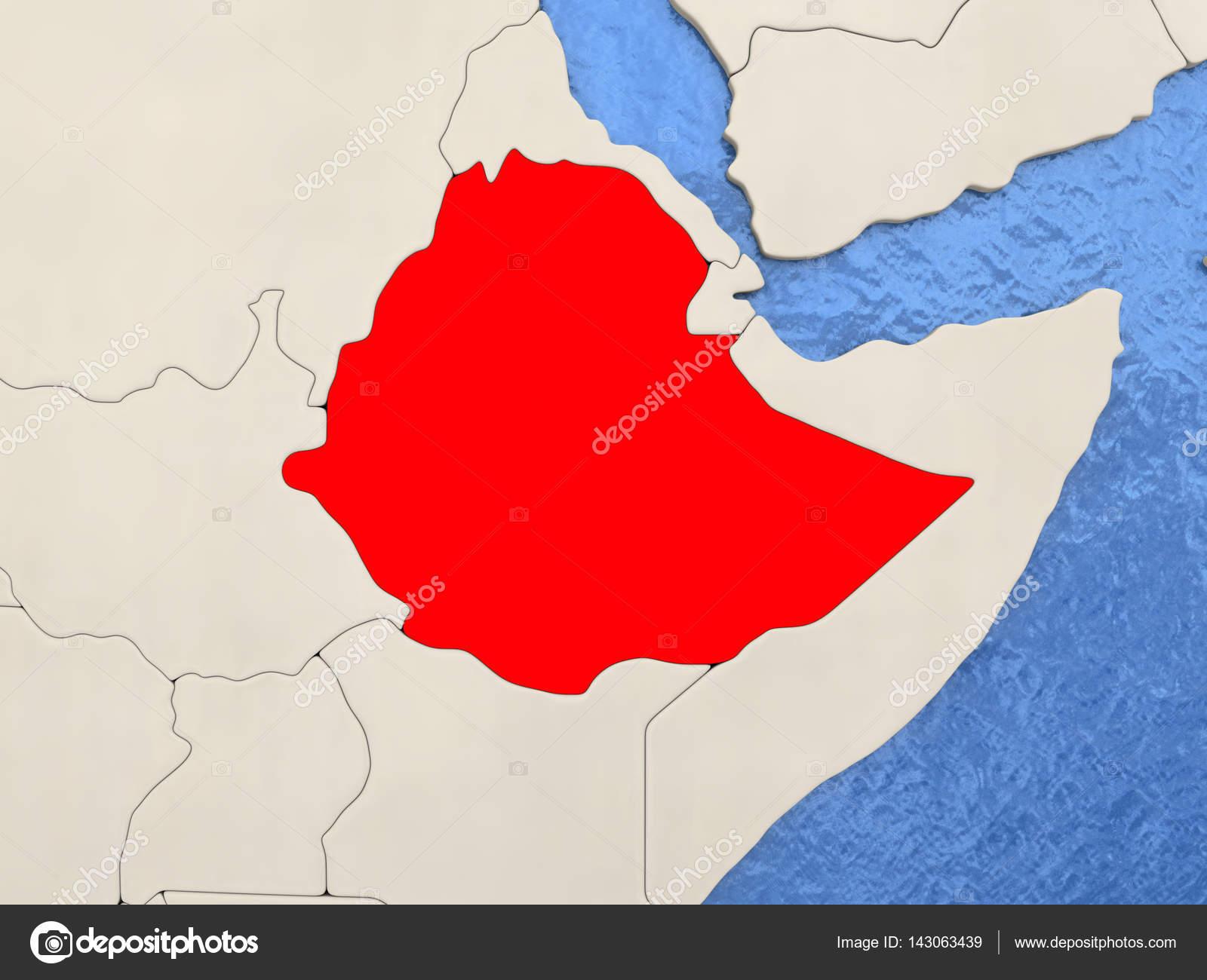 Ethiopia on map — Stock Photo © tom.griger #143063439