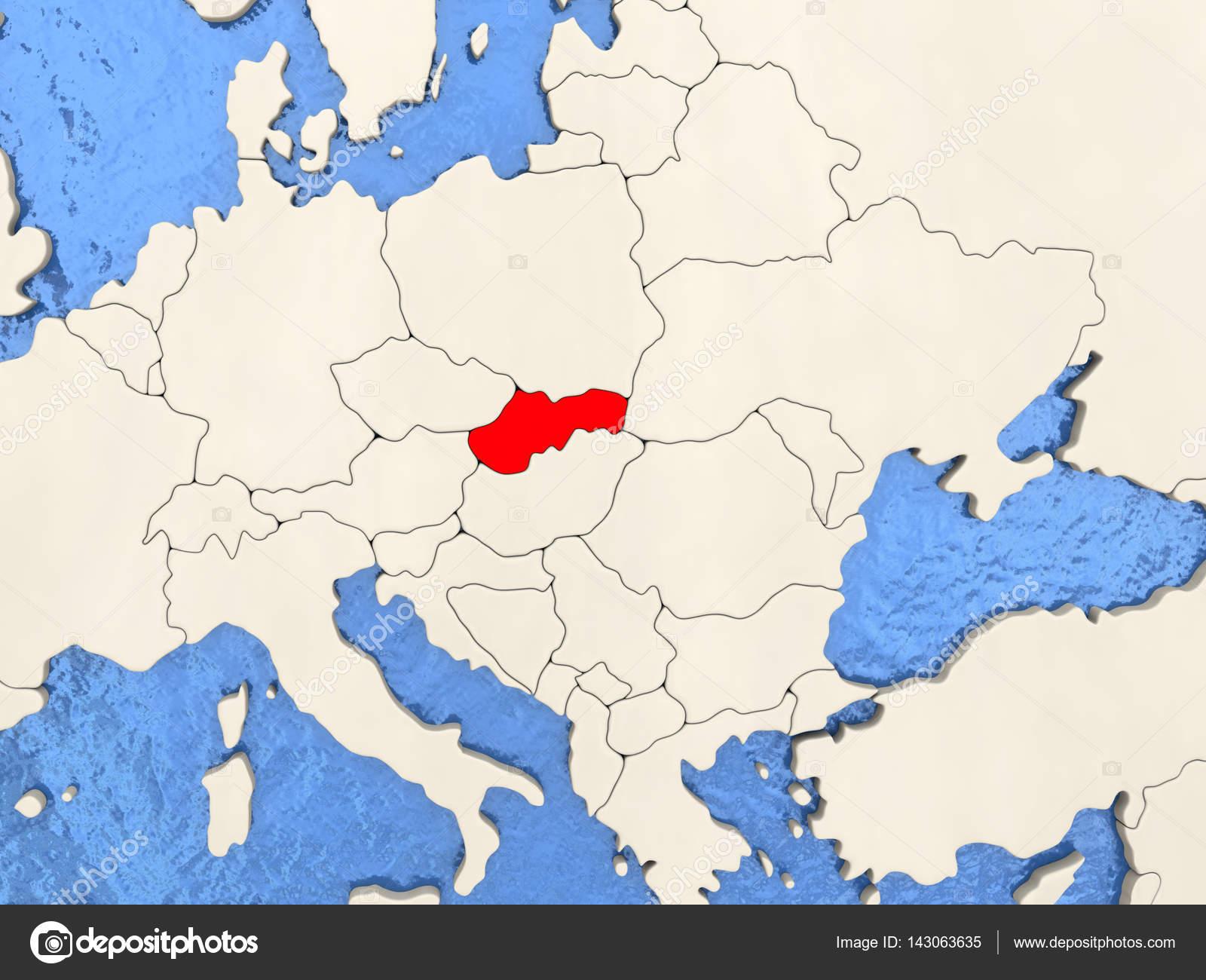 eslovaquia mapa Eslovaquia mapa — Fotos de Stock © tom.griger #143063635 eslovaquia mapa
