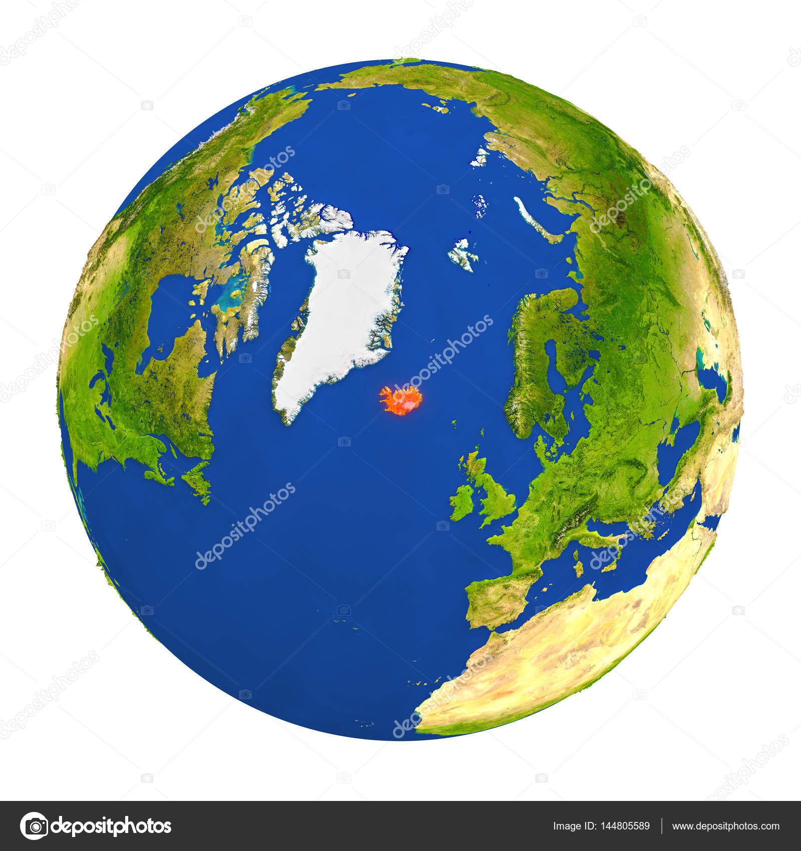 Iceland highlighted on earth stock photo tomiger 144805589 depositphotos144805589 stock photo iceland highlighted on earthg gumiabroncs Gallery