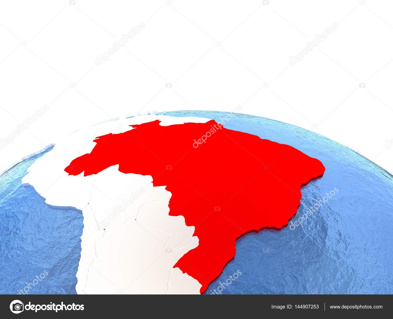 Carte Bresil Relief.Carte Du Bresil Sur Le Globe Photographie Tom Griger C 144907253