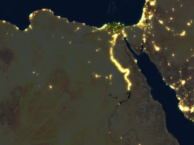 Egypt at night on planet Earth