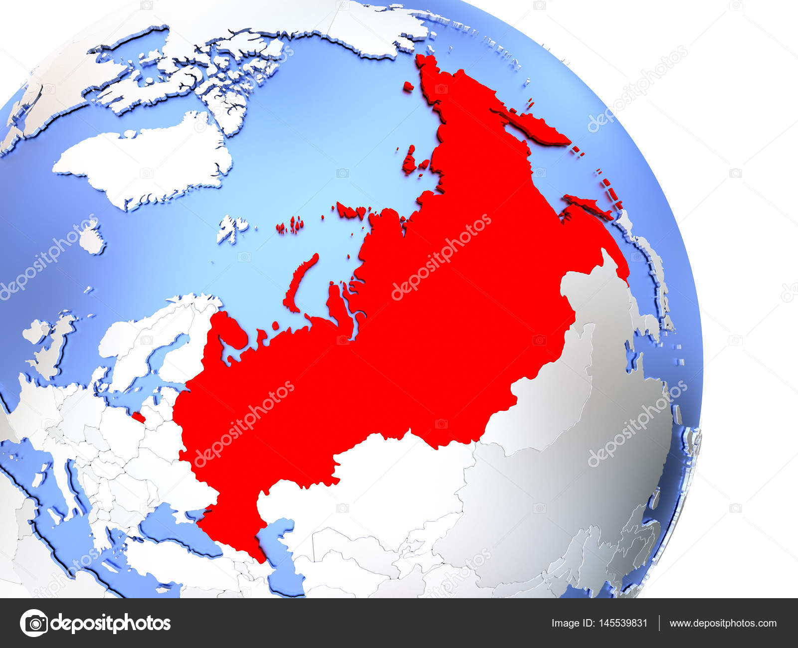 Russia on elegant globe stock photo tomiger 145539831 map of russia on elegant shiny globe 3d illustration photo by tomiger gumiabroncs Images