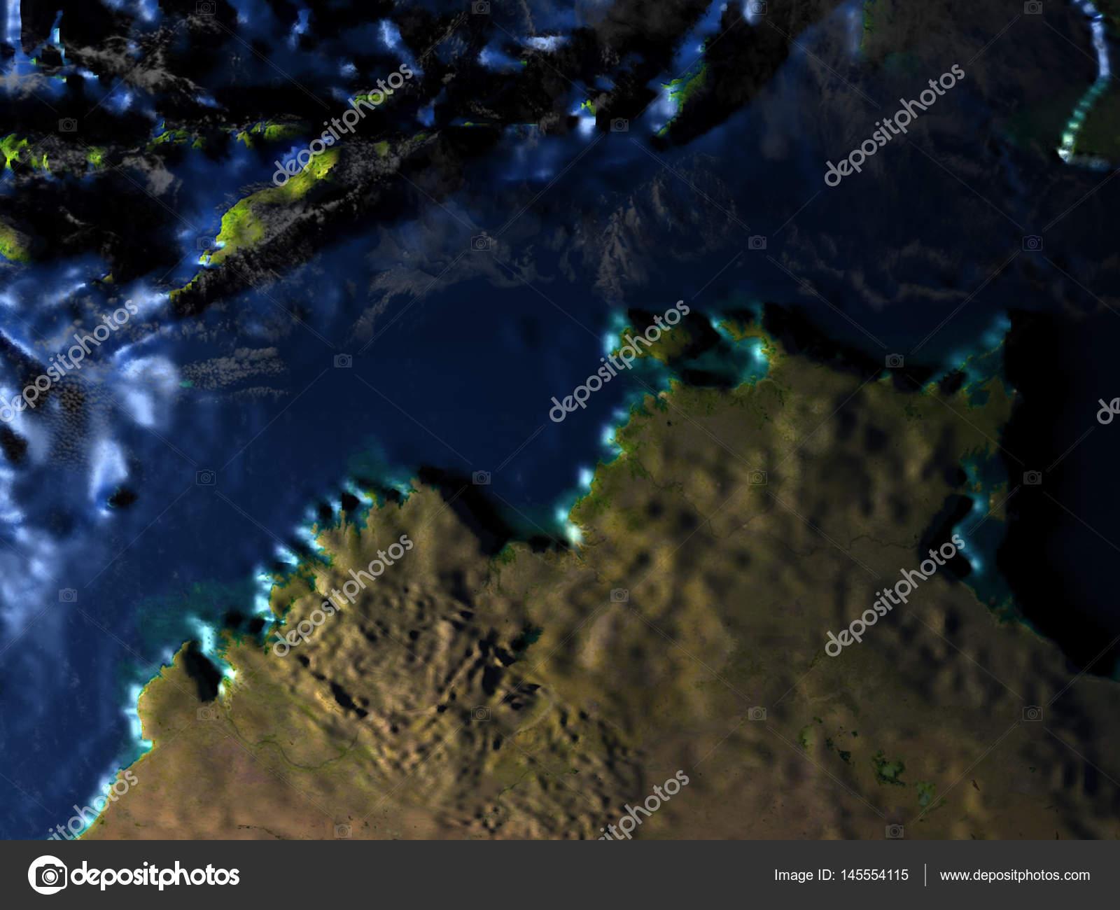 Fußboden Nord ~ Nord australien auf der erde sichtbar meeresboden u stockfoto