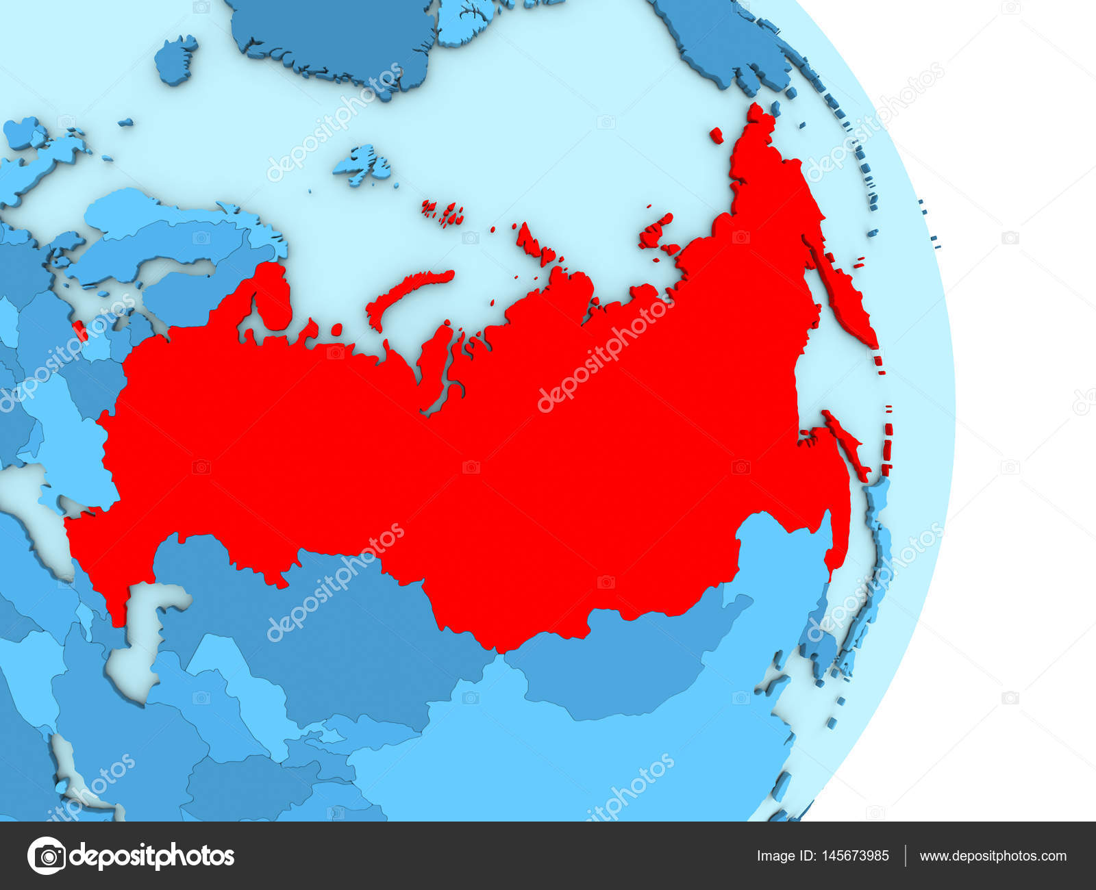 Russia on blue political globe stock photo tomiger 145673985 map of russia on blue globe with visible country borders and countries in different shades of blue 3d illustration photo by tomiger gumiabroncs Images
