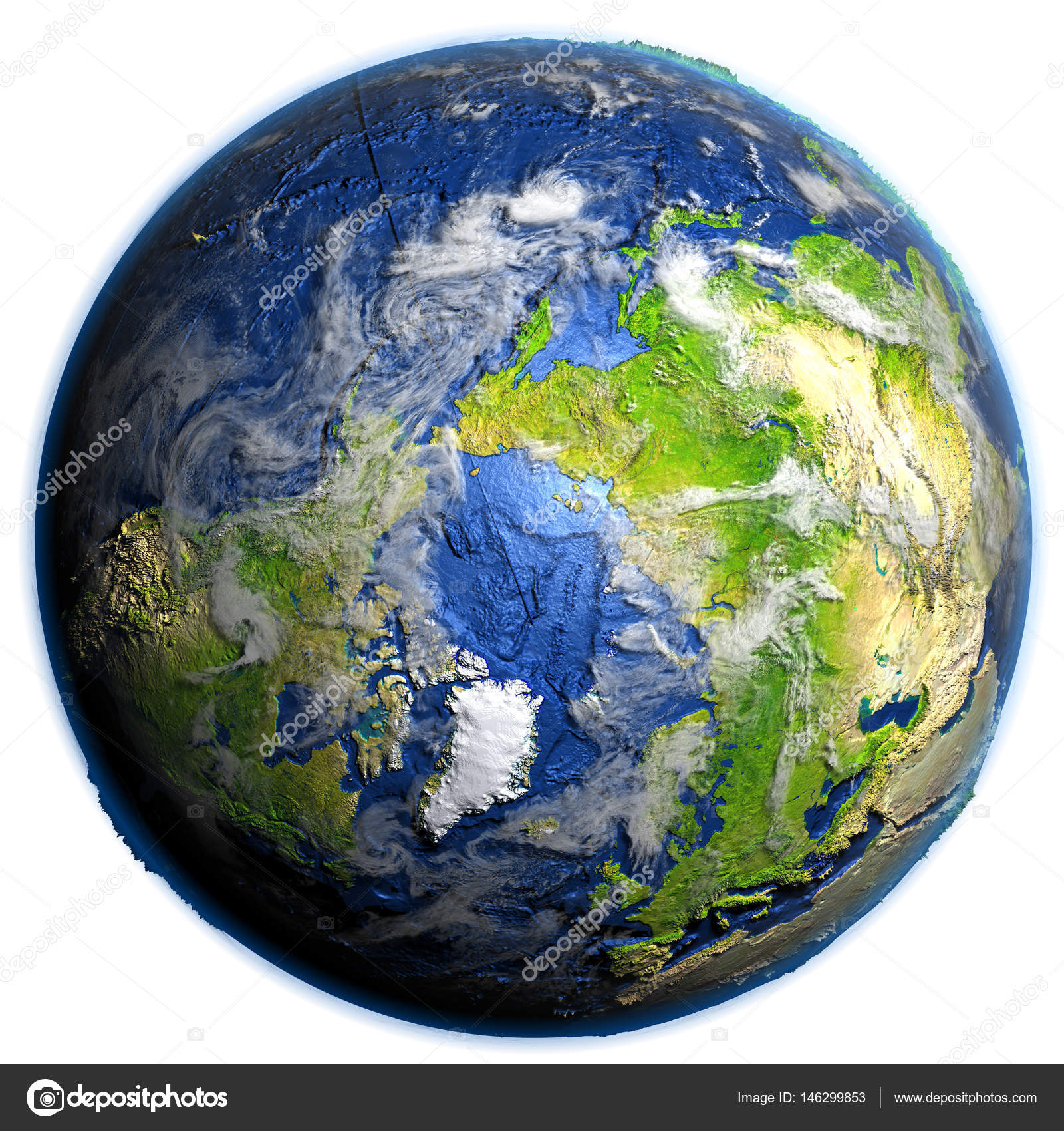 Arctic Ocean On Earth Visible Ocean Floor Stock Photo C Tom