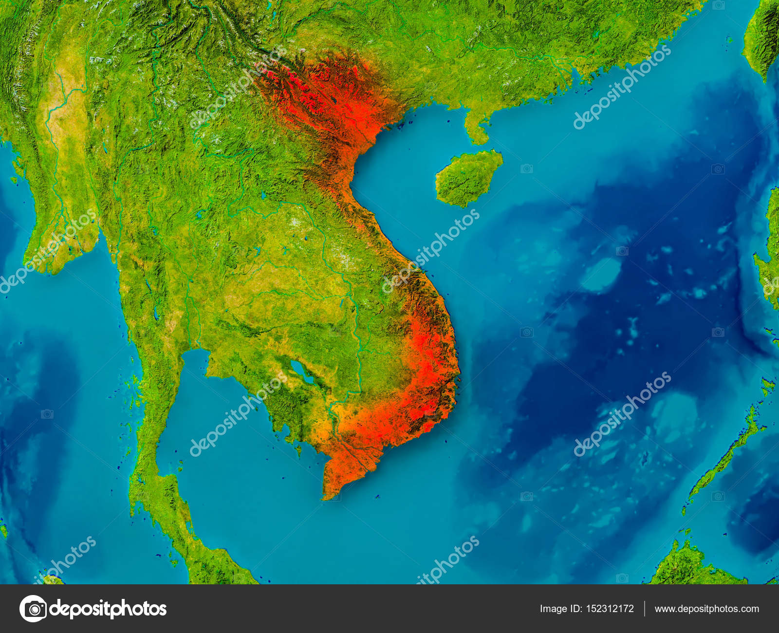 Vietnam physical map wyoroadfo map vietnam on physical map stock photo tomgriger 152312172 depositphotos 152312172 stock photo vietnam on physical map stock photo vietnam on physical publicscrutiny Images