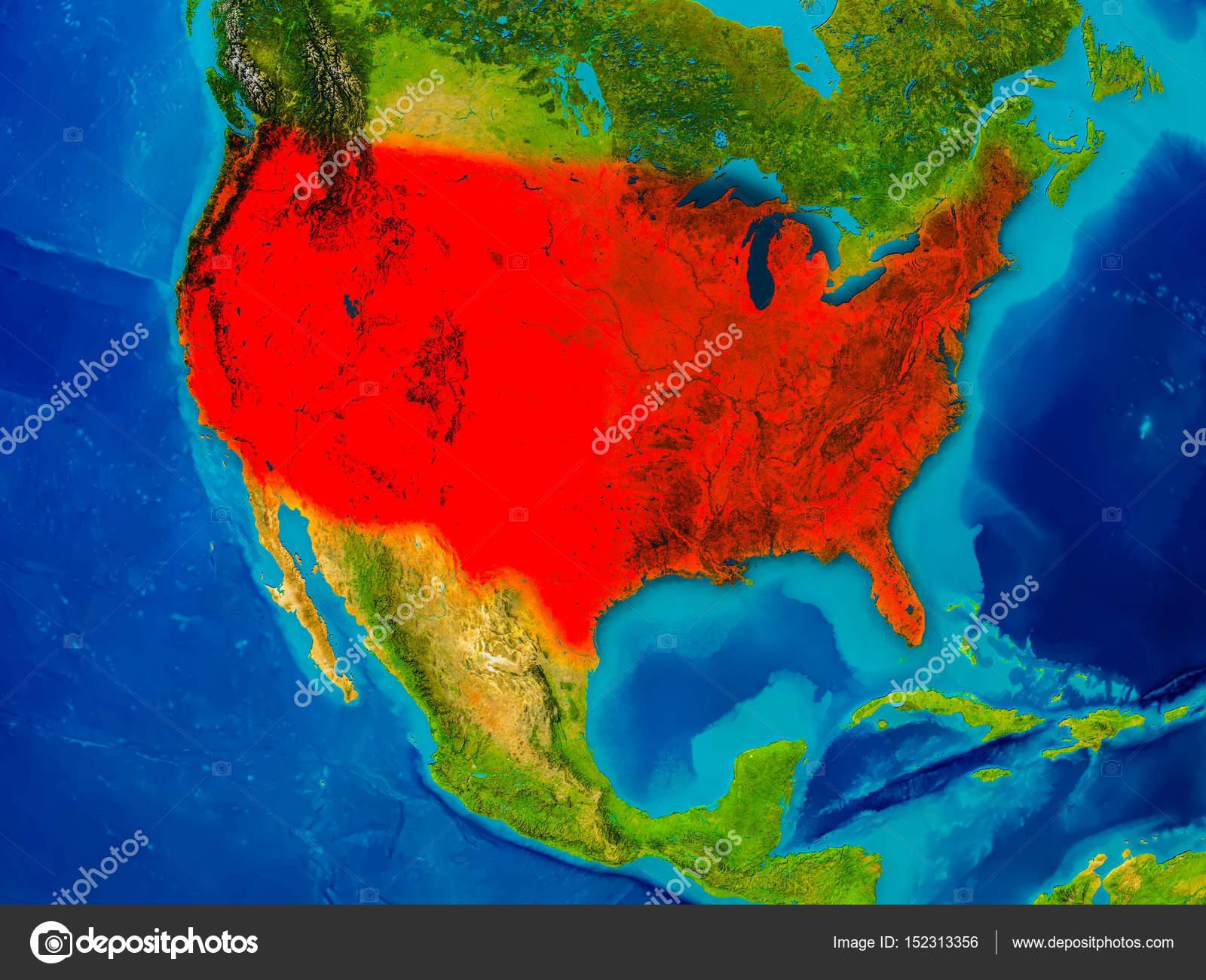 Physische Karte Usa.Usa Auf Physische Karte Stockfoto C Tom Griger 152313356