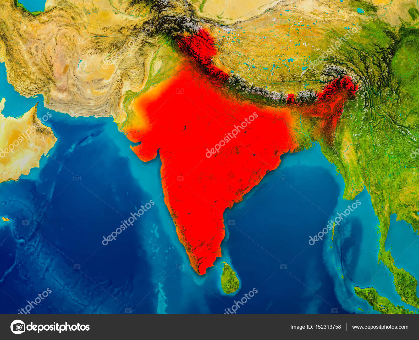 India on physical map stock photo tomiger 152313758 india on physical map stock photo gumiabroncs Image collections