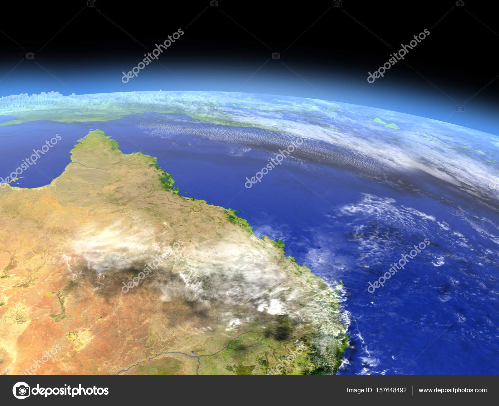 Photos Great Barrier Reef From Space Great Reef Barrier