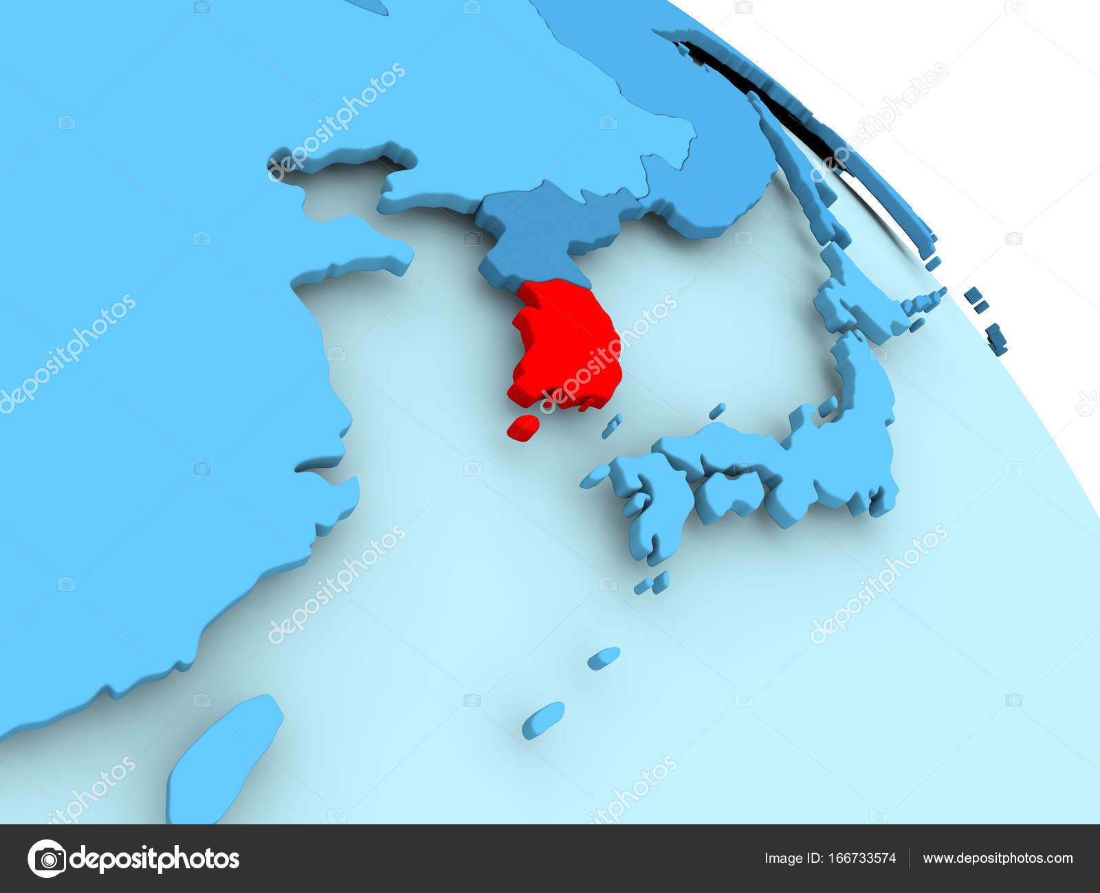 South korea on blue globe stock photo tomiger 166733574 south korea highlighted on blue 3d model of political globe 3d illustration photo by tomiger gumiabroncs Images
