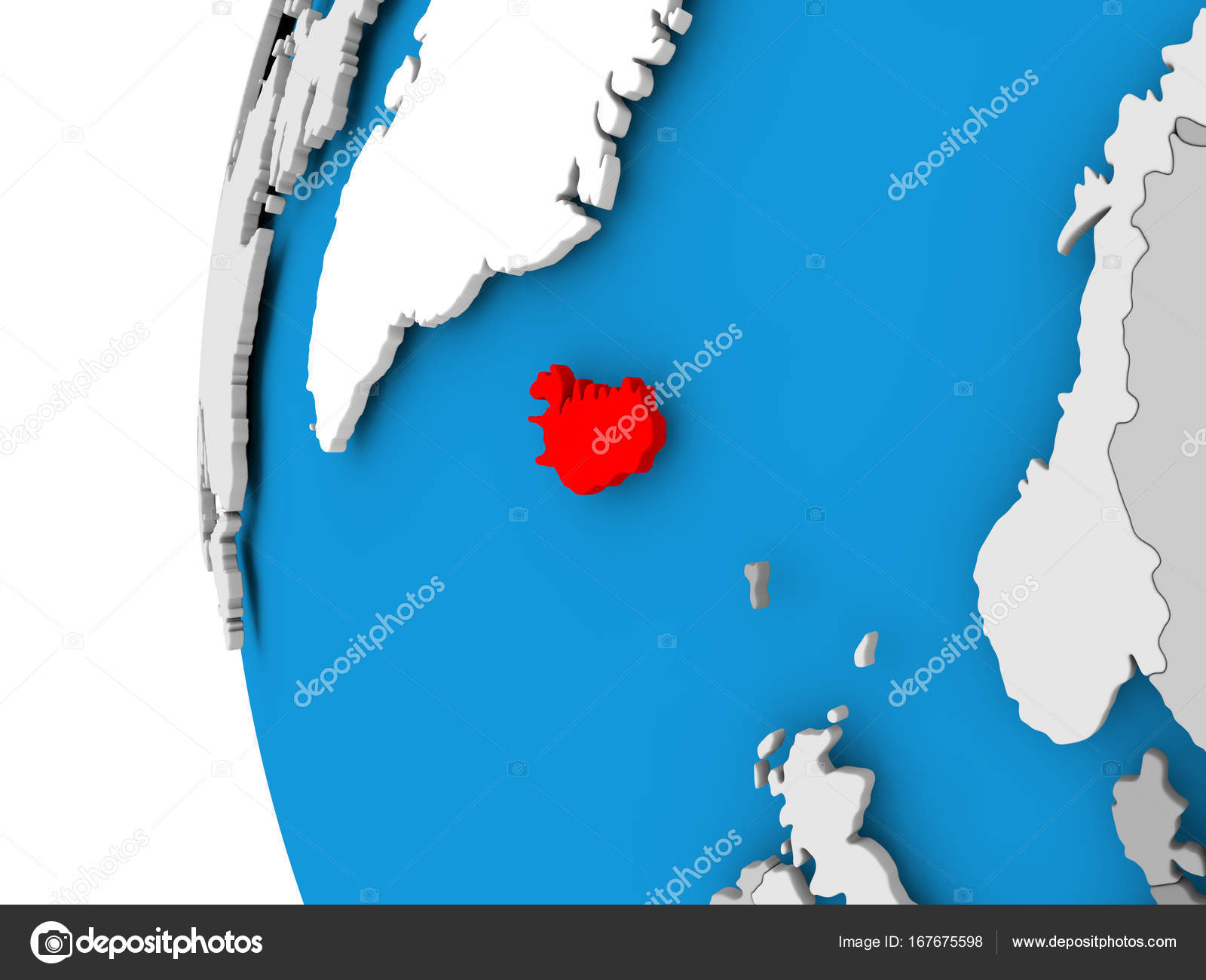 Map of Iceland on political globe — Stock Photo © tom.griger #167675598